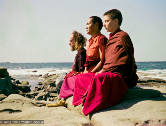 Lama,Yeshe Khadro and Chamba Lane, Australia, 1974