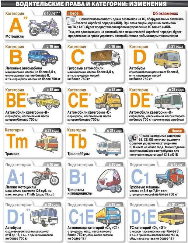 категории водительского удостоверения нового образца 2015 - фото 10